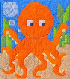 Octopus Quilt Pattern CQ-017 (advanced beginner, lap and throw)