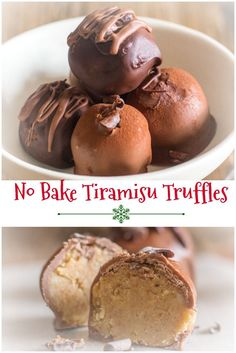 No Bake Tiramisu Truffles made with lady fingers, mascarpone, coffee and cream, then dipped in melted milk or dark chocolate. #truffles #no bake #gift idea #Christmas #chocolate via @https://it.pinterest.com/Italianinkitchn/