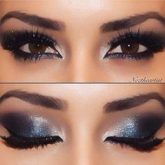 Makeup   Christmas makeup   Makeup inspiration   Blue makeup   Blue eyeshadow