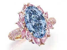 Moussaieff Flawless Vivid Blue Diamond Ring - weighing 3.39 carat - a masterpiece. Sold by Christies November 2014 for $5,819,867 or $1,716,774 per carat. Image by Christie's
