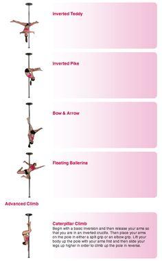 Pole Dance Training - Advanced poses part 3 and climb