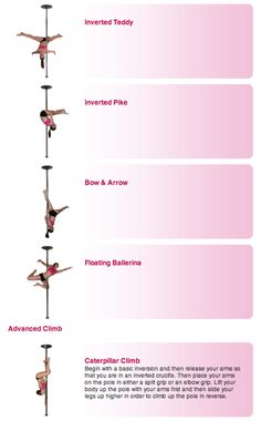 Pole Dance Training - Advanced poses part 3 and climb