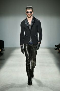 Those pants!!  Male Fashion Trends: HD Homme Autumn-Winter 2014 | World Mastercard Toronto Fashion Week
