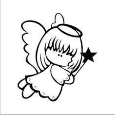 Pin about Angel drawing and Christmas drawing on ART - Paper Christmas Colors, Christmas Art, Christmas Ornaments, Christmas Angels, Tole Painting, Fabric Painting, Doodle Drawings, Cute Drawings, Coloring Books