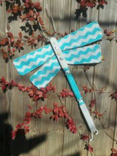 """Table leg and ceiling fan blade dragonfly ... fence art ... """"Shabby Crabby"""".  Garden Critter Collection by Bless Your Heart Art!  kathryncrews@comcast.net"""