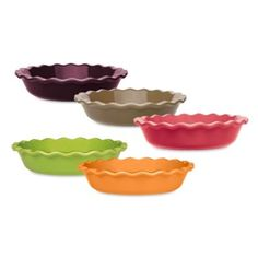 Want- purple/orange/lime or red. Emile Henry 9-Inch Fluted Pie Dish - BedBathandBeyond.com