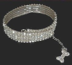 Austrian Crystal Stretch Dog Collar