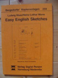 Easy English Sketches. Bergedorfer Kopiervorlagen,  Band 259 Band, Sketches, English, Templates, Bands, Sketch, English Language, Doodles, England