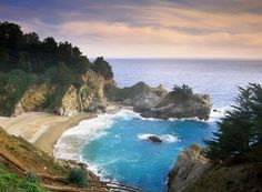 McWay Cove and McWay Falls. Julia Pfieffer Burns State Park, California via @greatbigcanvas available at GreatBIGCanvas.com.
