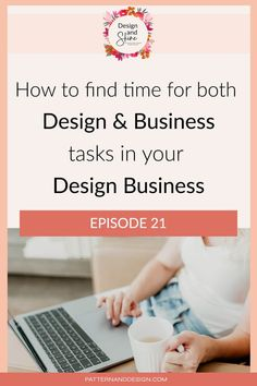 If you are a surface pattern designer who is wanting to get to the next level and move away from being a hobbyist to a successful designer who is selling their designs consistently with a regular income then you need to allocate time for business tasks. In this episode of the Design and Shine podcast, we talk about the importance of treating your design business as a business and I also share a few tips that you can use to help make the process easier. Inspiration For Kids, Design Inspiration, Textile Design, Fabric Design, Kids Patterns, Floral Patterns, Graphic Design Lessons, Photoshop Tips, Surface Pattern Design