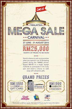 29 Jun-31 Aug 2015: Lot 10 1Malaysia Mega Sale Carnival