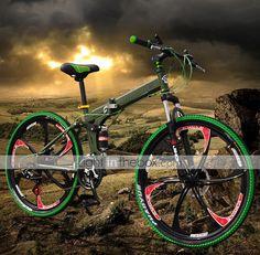 JinDie™ 21 Speeds 26Mountain Bike 5 Spokes Wheel Folding Cycling - EUR € 329.99