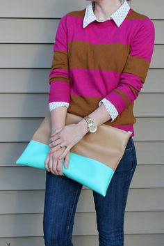 handmade neon clutch by The forge via http://theforgestyle.blogspot.com