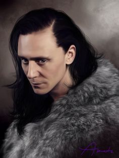 Loki in fur by amatasera on Tumblr. Oh be still my beating heart! Loki in fur....