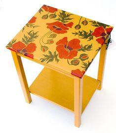 piros pipacs virágok, festés ötletek bútor dekoráció