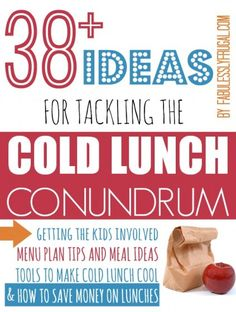 "My goal this year is to do some better planning for school lunches!  I have a plan to get my kids involved AND make cold lunch ""cool"" ."