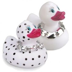 Quackers Bathing Ducks Diamante Rubber Duck
