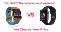 Enter now and you could win either a Fibit Ionic or an Apple Watch Series 3 and the best part is...You can choose! #giveaway #sweepstake