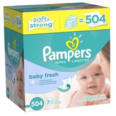 Pampers Softcare Baby Fresh Wipes 7x box, 504 Count Pampers,http://www.amazon.com/dp/B0062V8PPI/ref=cm_sw_r_pi_dp_GKAwtb0SGJEY4X02 $10.97