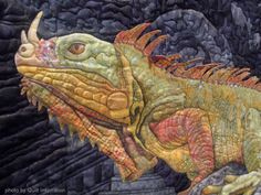 close up, Ancient Echoes by Jan Reed (Grass Valley, California). 2013 Houston IQF, photo by Quilt Inspiration