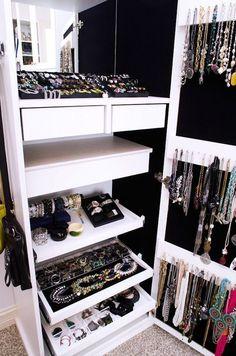 Closet Jewelry Organizer - storing jewelry, bridal jewelry sets, jewelry making supplies *ad