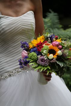 Bouquet estivo con girasoli