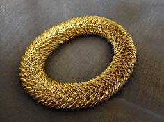 Golden layered bracelet by OMyGlam on Etsy