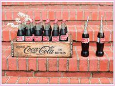 Wedding Drink Bar: old fashioned coke bottles