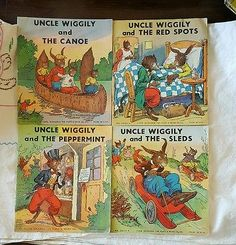 Vintage 4 Uncle Wiggily's Book Howard R Garis, Illustrated,Children's,Color,1939