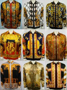Versace it up Gianni Versace, Versace Versace, Swagg Man, Bohemian Style Men, House Of Versace, Versace Shirts, Best Mens Fashion, Moda Masculina, Outfits