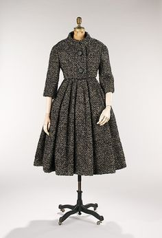 Ensemble Design House: House of Dior (French, founded 1947) Designer: Christian Dior (French, Granville 1905–1957 Montecatini) Date: 1957 Culture: French Medium: wool
