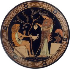 Heracles and Athena: Ornamental plate ancient by MITOliberty