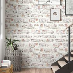 "Trent Austin Design Alvara 34.45' x 20.87"" Brick Wallpaper Roll & Reviews: wall | Wayfair"