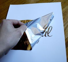 DIY gold foil printing, WHAT! it's that easy?!?!
