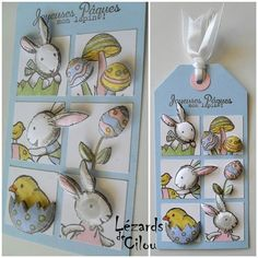 3D Easter Tags- Idea for use in a CASE card.  TAG N°4 MARS 2013 BLOG