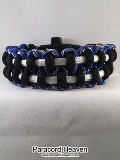 Wow! straight out of the production line check out this new product: Midnight Blue - P... Check it out right here! http://www.paracord-heaven.com/products/midnight-blue-paracord-heaven-parallel-weave-survival-bracelet