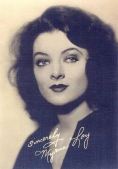 Myrna Loy (August 2, 1905 – December 14, 1993) was an American film, television and stage actress. Trained as a dancer, Loy devoted herself fully to an acting career following a few minor roles in silent films. She was originally typecast in exotic roles, often as a vamp or a woman of Asian descent, but her career prospects improved greatly following her portrayal of Nora Charles in The Thin Man (1934).