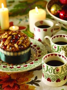 Emma Bridgewater Christmas 'Joy' Cake Plate And Mugs