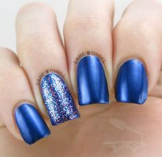 Pretty royal blue nails (Sassy Cats Lacquer 'Give Me Sapphires') - IG @GameNGloss