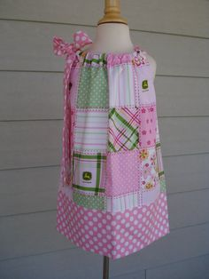 Girls Pillowcase Dress baby John Deere by Baby by babyharrill, $22.00