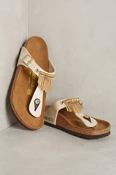 Birkenstock Gizeh Fringe Sandals - #anthrofave