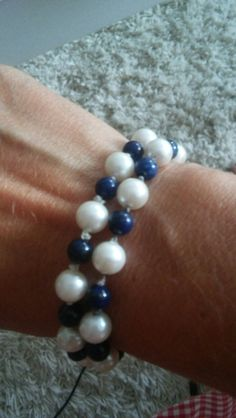 Pearl Blue-White by jante.silver@gmail.com