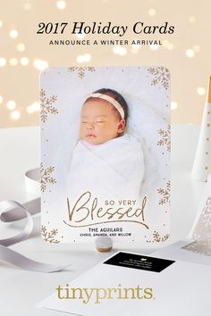 Announce your winter arrival with beautiful holiday cards. Personalize with your favorite photos and a custom greeting, plus your choice of format and paper quality. A personalized holiday card is the perfect way to announce baby's first Christmas.