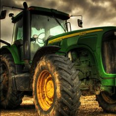 John Deere.... its all about the Yellow and Green. Go Big or Go Home.
