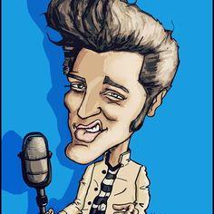 Elvis cartoon character