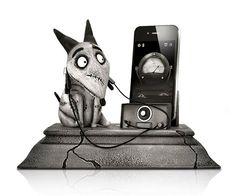 Frankenweenie Phone Charging Statue