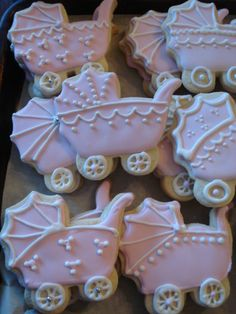 Baby Shower Carriage - Vanilla Sugar Cookies