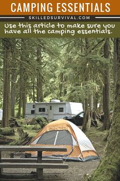 This Ultimate List Of Camping Essentials Will Ensure You Never Accidentally Forget That Important Piece of Camping Gear On Your Future Camping Trips.