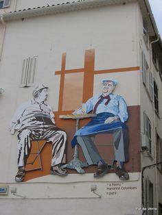 Hommage à Raimu et Pagnol - Place du Théatre - Toulon
