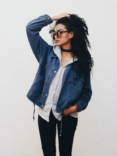 Finíssimas Fashion: Look do dia Outfit: Jeans Jacket! Urban Street Style, Looks Style, Style Me, Look Fashion, Fashion Outfits, Fashion Trends, Fashion News, Fall Outfits, Casual Outfits